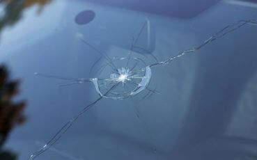 43198335 - smashed windscreen of a car, damaged glass